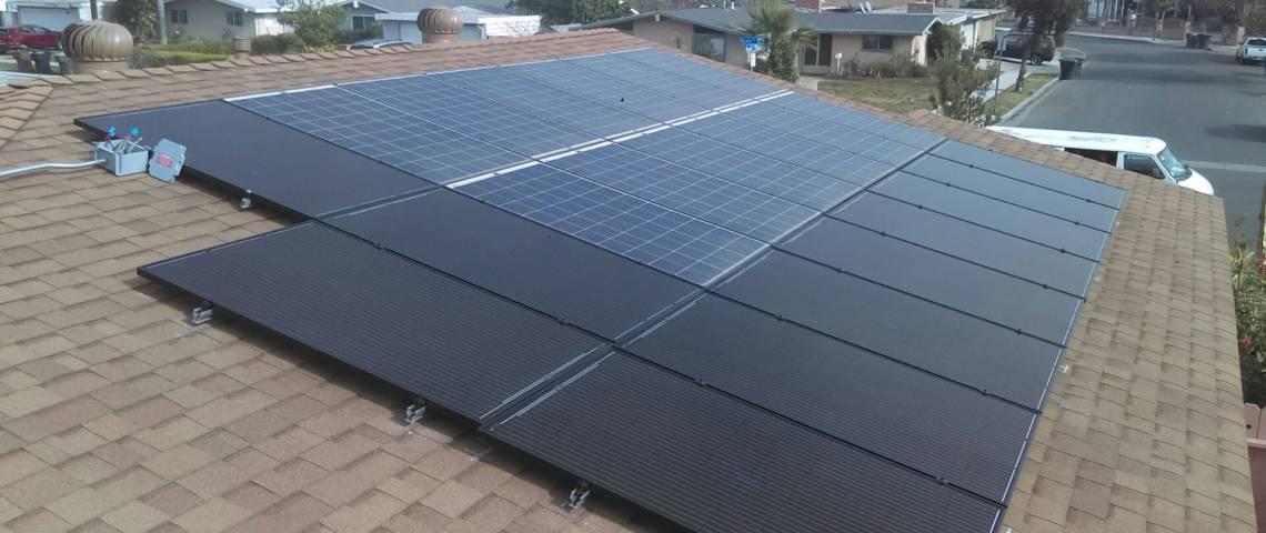 Solar Power System in Anaheim, CA  - Rooftop Installation
