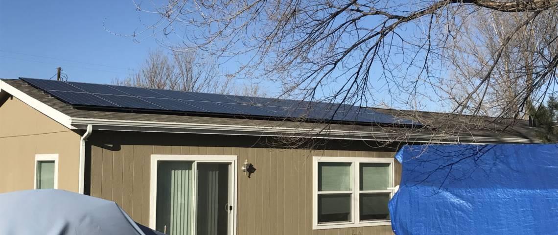Solar Power System in Fruita, CO - SolarWorld Panels