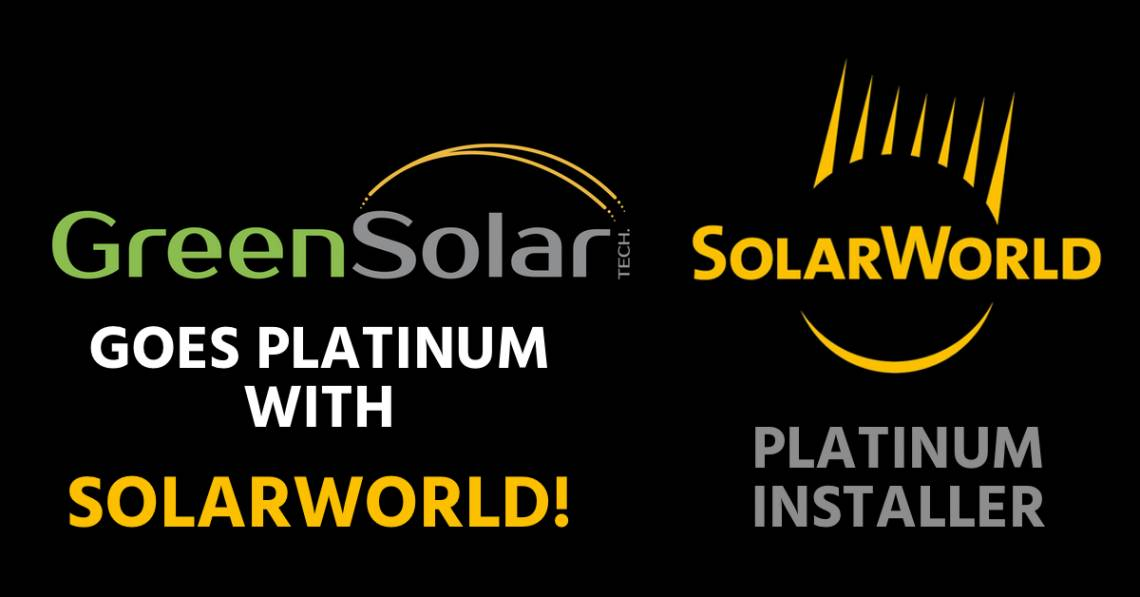 GREEN SOLAR SOLARWORLD BANNER