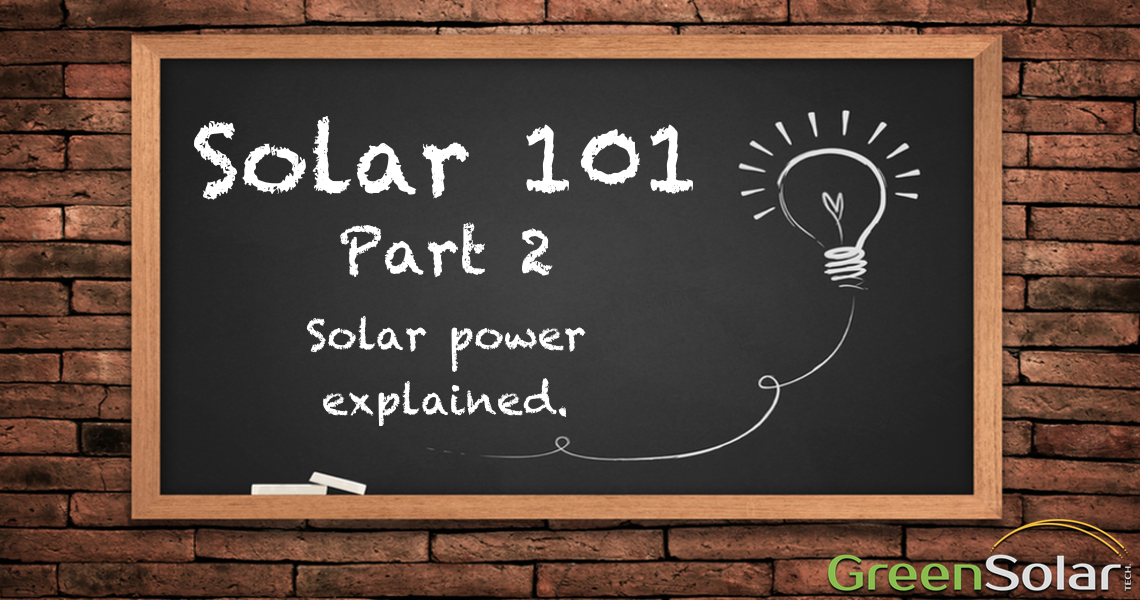 Chalkboard with Solar 101 written on it