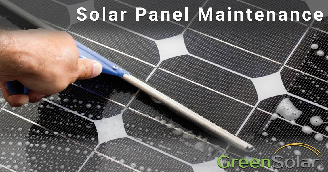 Man cleaning Solar Panel Solar Panel Maintenance Blog Image