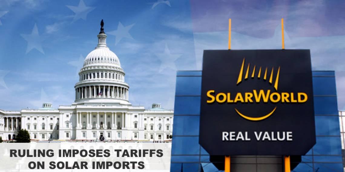 solar tariff imports american solarpanels