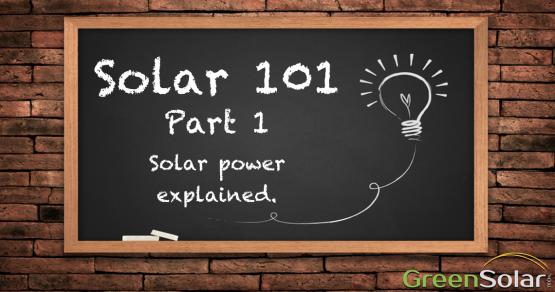 Chalkboard with Solar 101 written on it