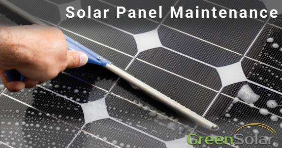 Man cleaning Solar Panel Solar Panel Maintenance Blog Image