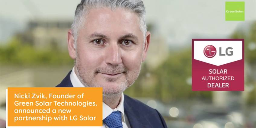 Green Solar Technologies Founder Nicki Zvik Announces Partnership with LG