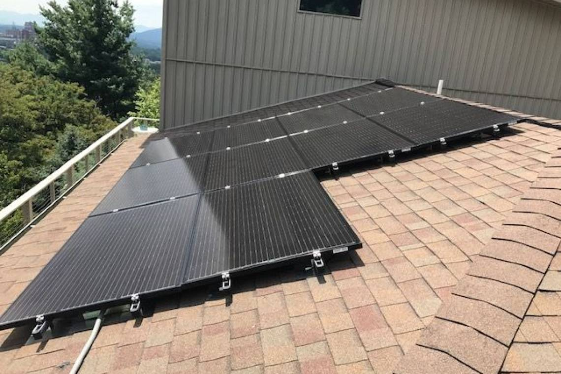 Roof Mount Solar Panel Installation in Asheville, NC - 2