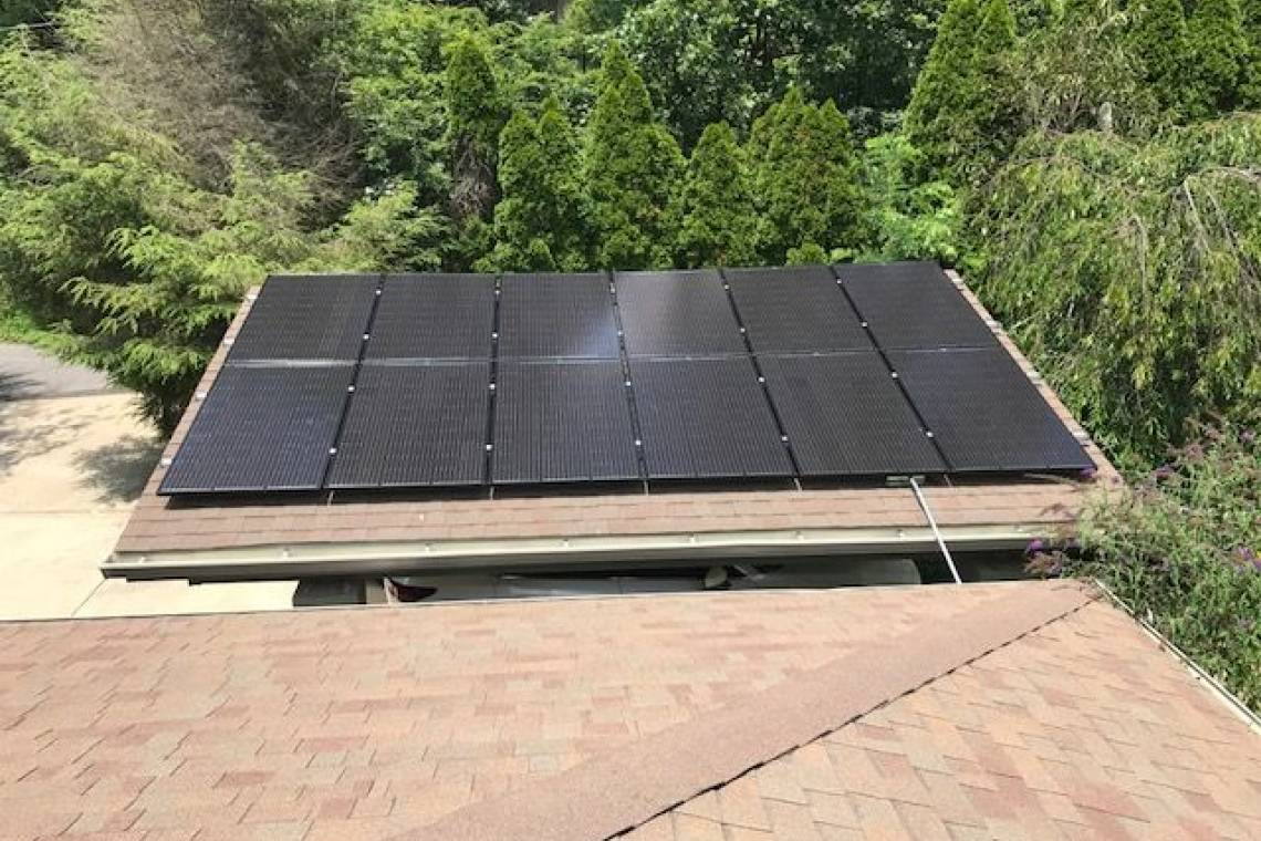 Roof Mount Solar Panel Installation in Asheville, NC - 1