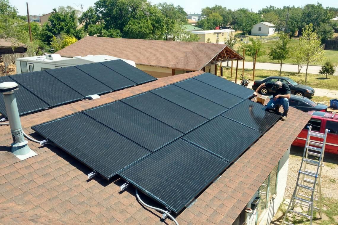 Roof Mount Solar Panel Installation In Amarillo Tx 1