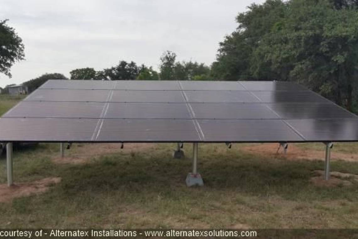 Ground Mount Solar Panel Installation in Zephyr, TX - 2