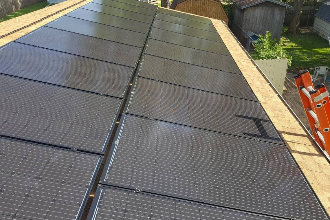 Roof Mount Solar Panel Installation in Charleston, IL - 1