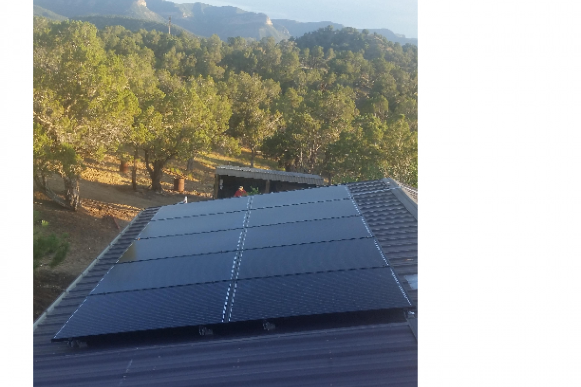 Roof Mount Solar Panel Installation in Cortez, CO  - 5