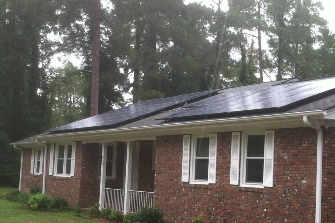 Roof Mount Solar Panel Installation in Darlington, SC - 1