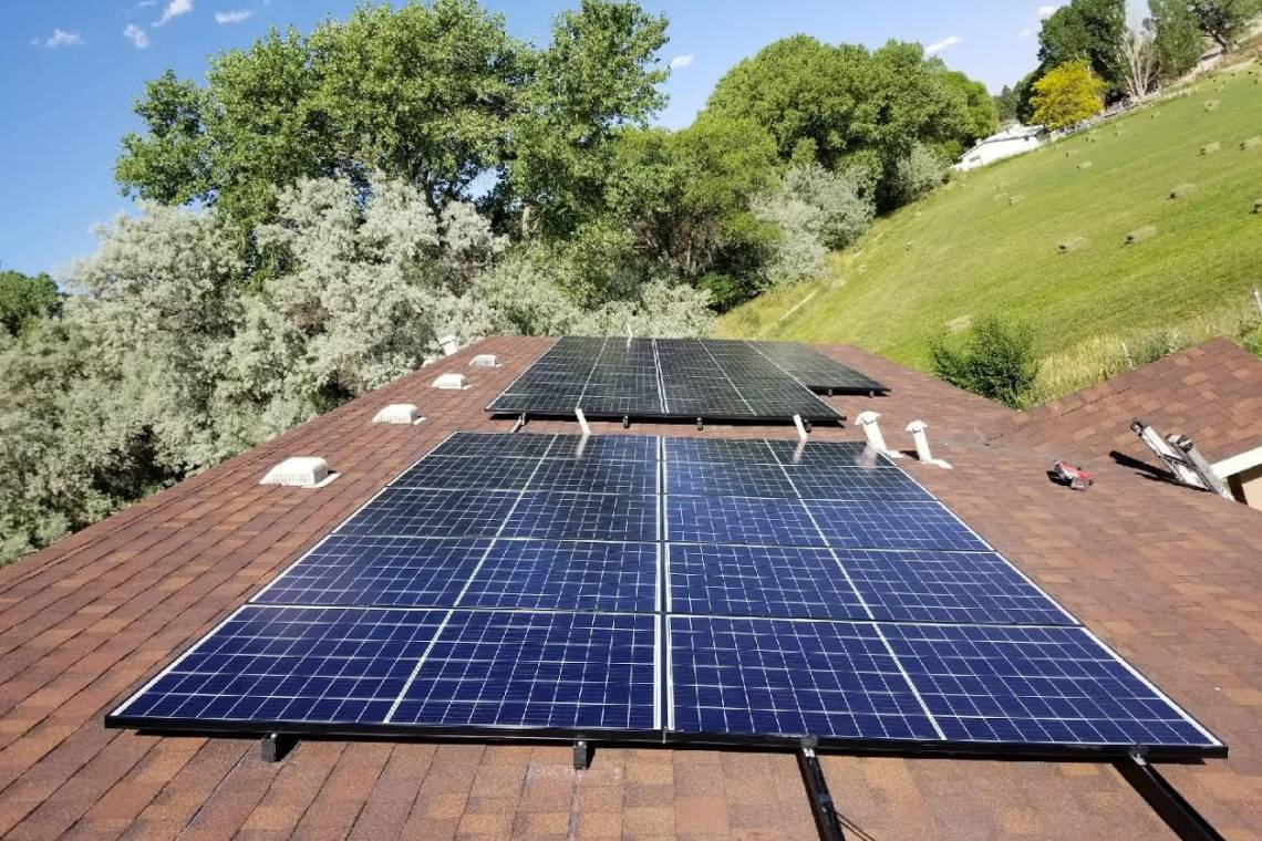 Roof Mount Solar Installation in Bloomfield, NM - 1