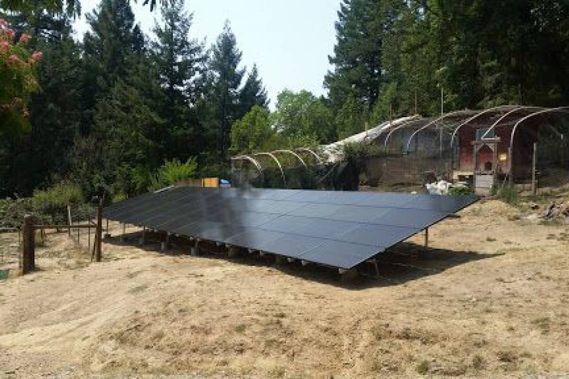 Ground Mount Solar Panel Installation in Whitethorn, CA (12.255 kW) -