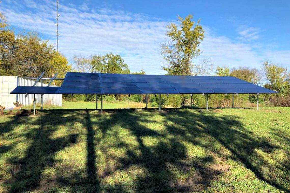 Ground Mount Solar Electric System in Pattonville TX