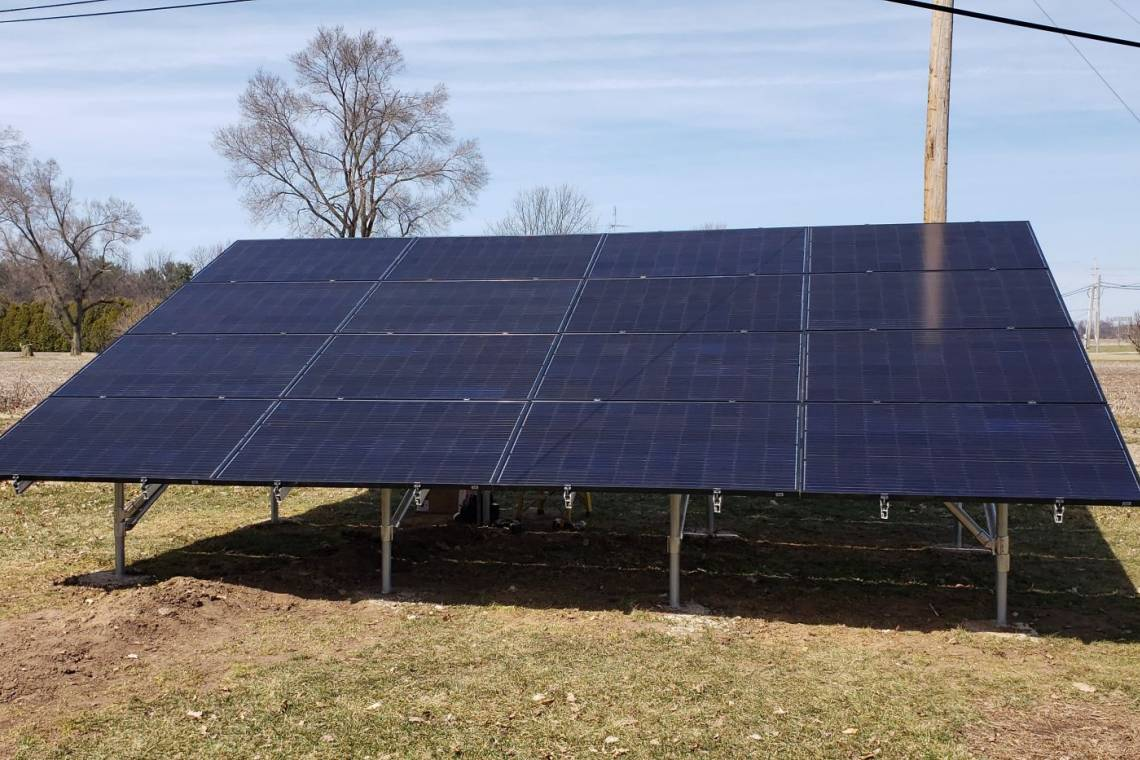 Ground Mount Solar Installation in La Porte IN