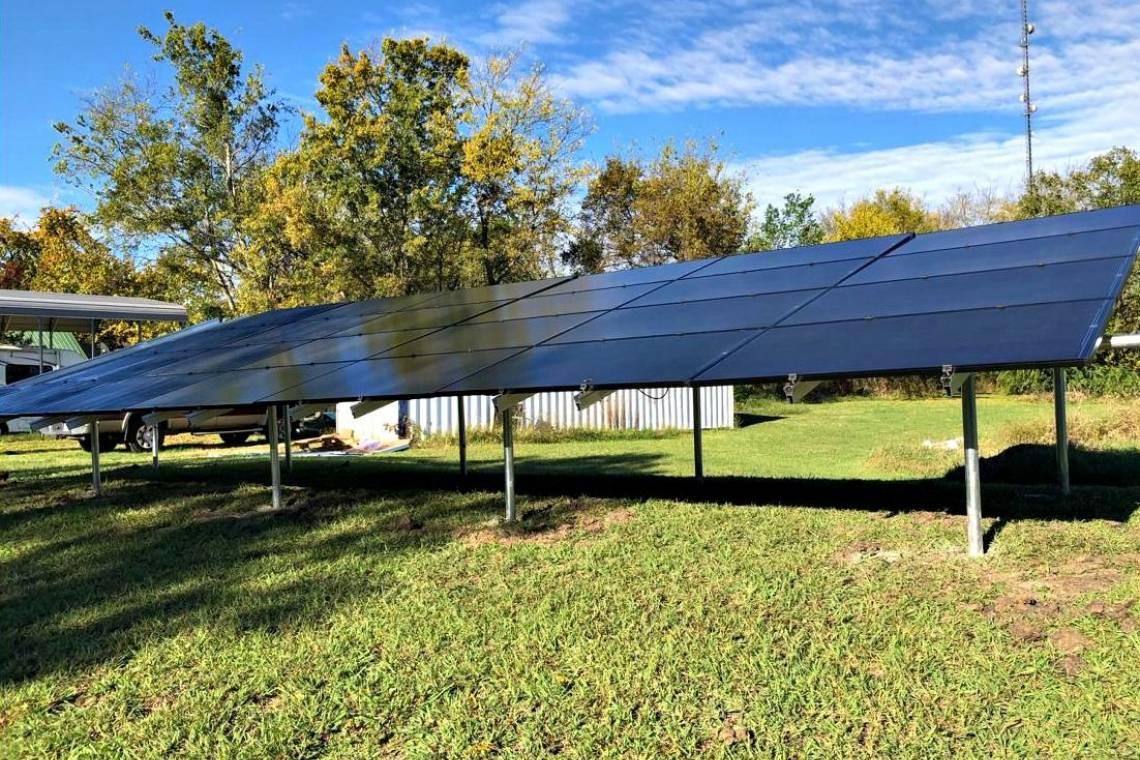Ground Mount Solar Power System in Pattonville TX