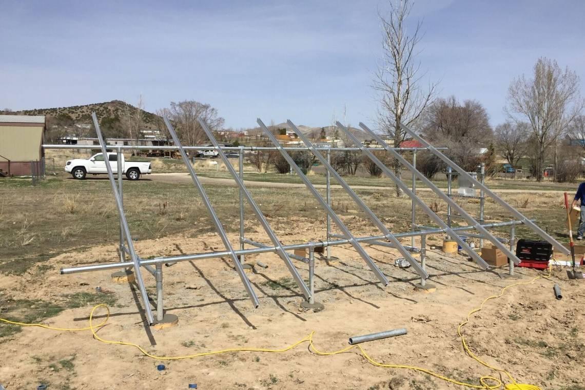 Ground Mount Solar Racking in Spring Creek NV   greensolartechnologies