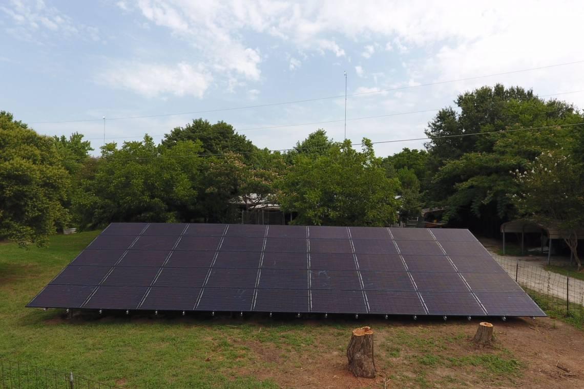 Grount Mount Solar Install in Terrell TX ...