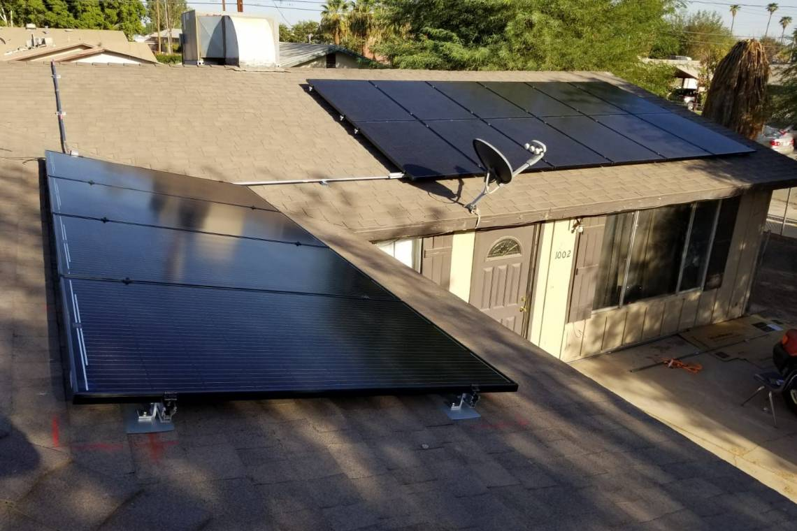 Roof Mount Solar Panel Array in Calexico CA