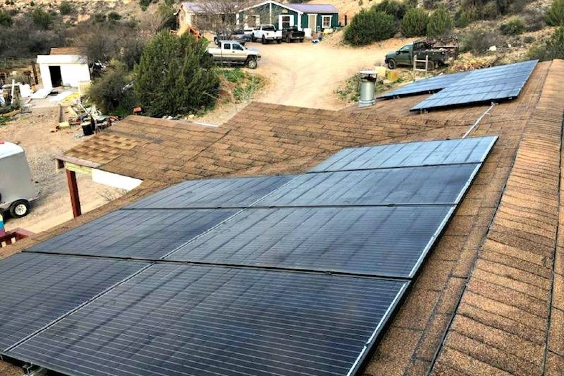Rooftop Solar Energy System in Cottonwood AZ