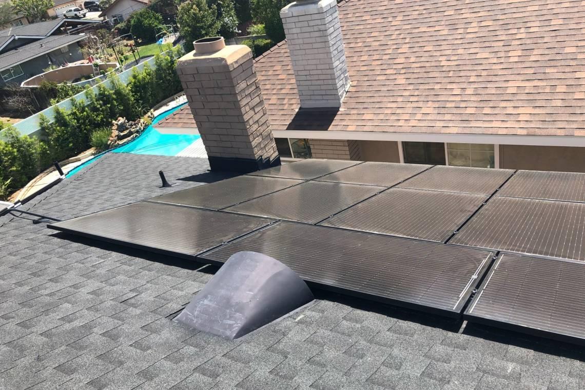 Rooftop Solar Panel Array in Orange CA