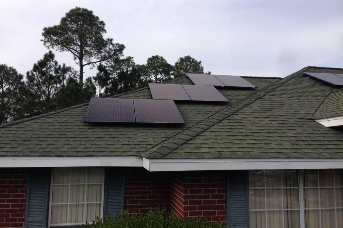 Asphalt Shingle Roof Mount Solar Panel Installation In