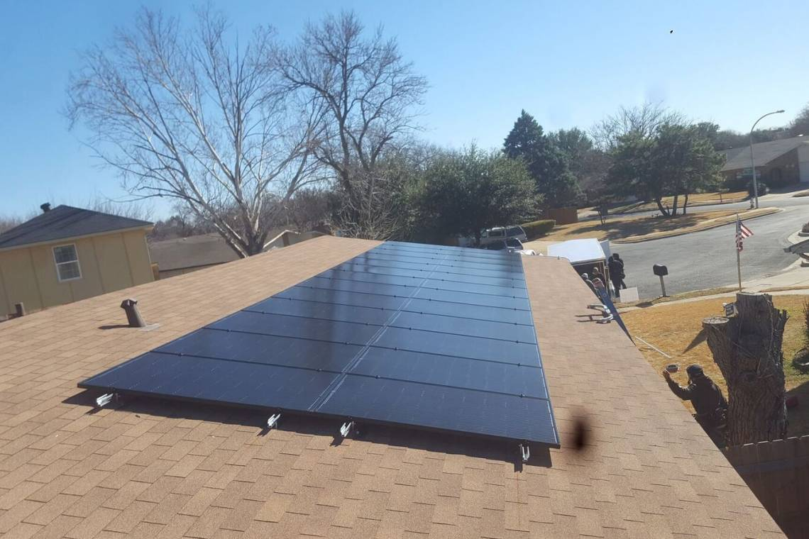 Solar Panel Install In Fort Worth Tx Greensolartechnologies Wiring Photo Details