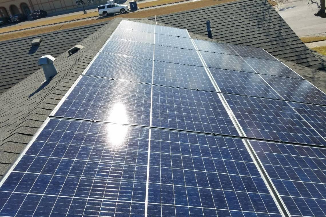 Solar Energy System in Corpus Christi  - Panel Array