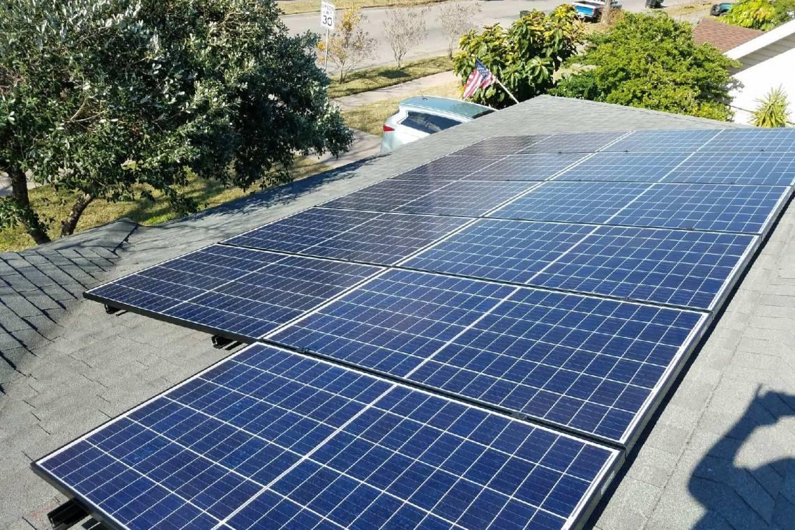 Solar Energy System in Corpus Christi  - Panels Facing Street